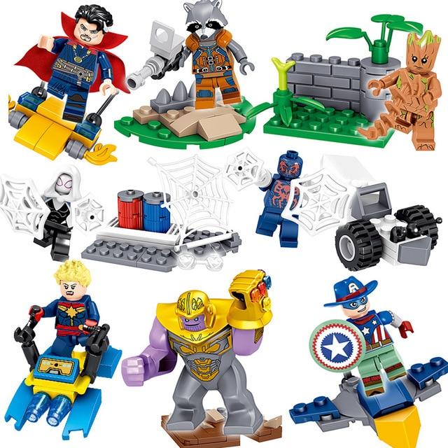Brinquedo das Crianças blocos de construção Compatível Legoing pc/lote 8 Liga de Super-heróis da marvel Super Herói Aliança Vingança 4 Batalha Final do presente