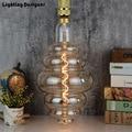 Gran tamaño de bombilla regulable bombilla de Edison E27 LED de filamento led Vintage lámpara grande hamburguesa decoración bombilla 6 W 220 V luz blanca cálida