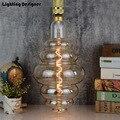 Grande tamanho do bulbo pode ser escurecido E27 Macio LEVOU Filamento Edison Lâmpada Do Vintage decoração da lâmpada conduziu a lâmpada grande hambúrguer 6 w 220 v luz branco quente