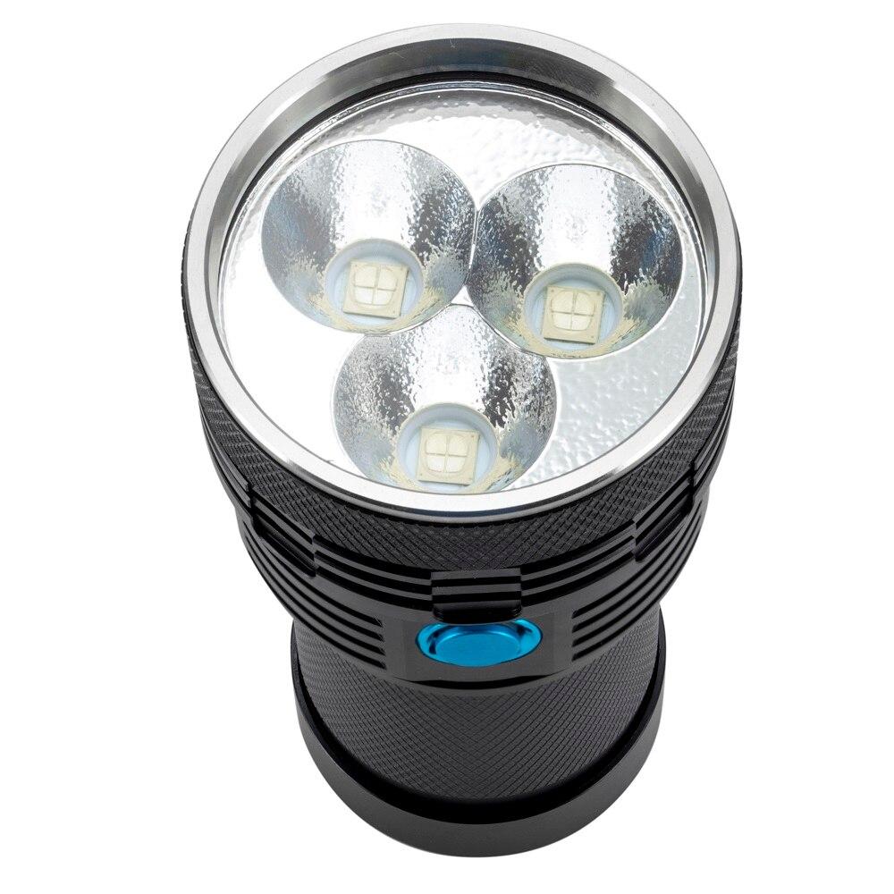 AloneFire Super lumineux XHP70 60 W plus puissant lampe de poche LED 13000lm haute puissance rechargeable lampe de poche LED lanternes camping - 3