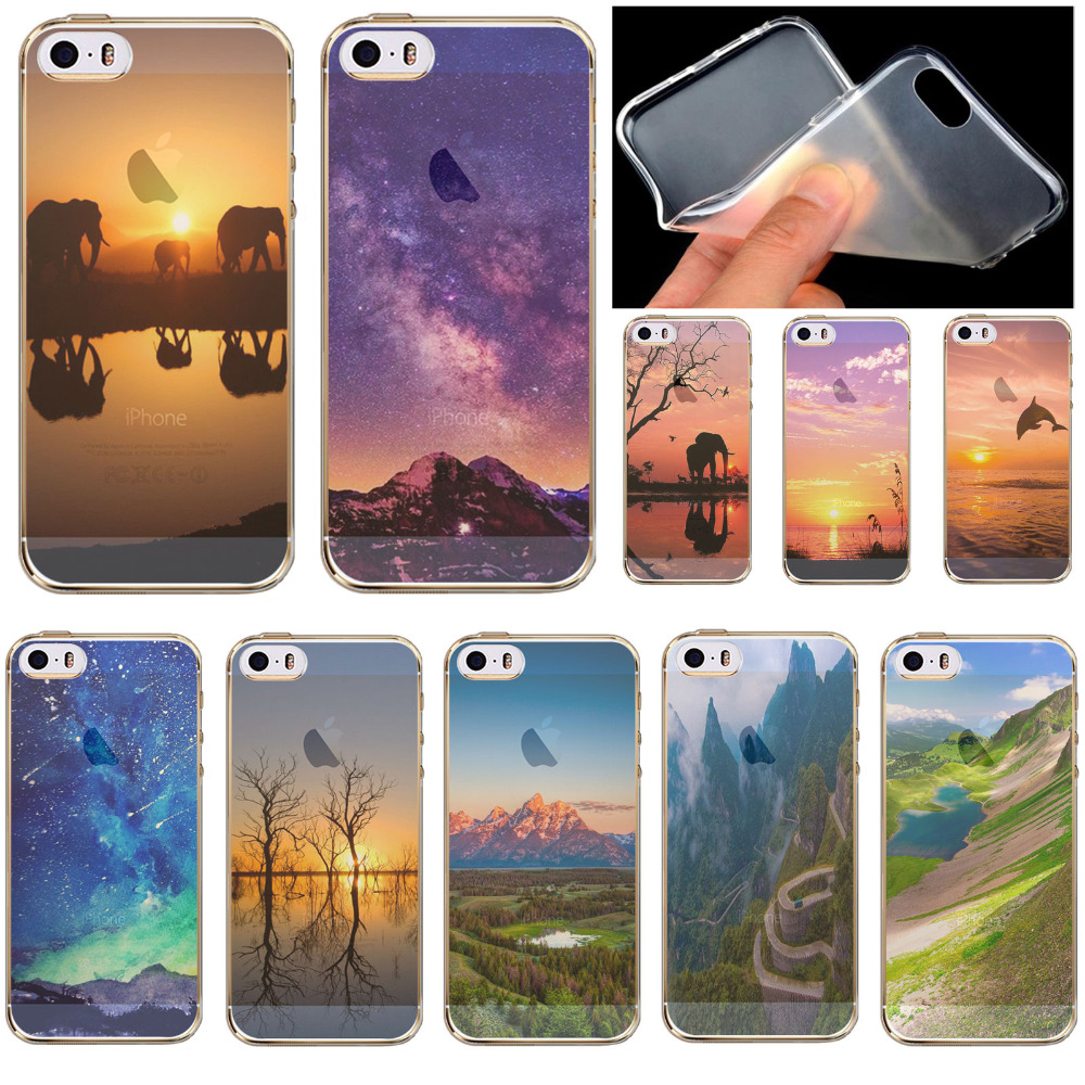 Savannah Background Soft Silicon Semi Transparent Phone Case For iPhone 5 5s SE Free Shipping WHD1439 15-30