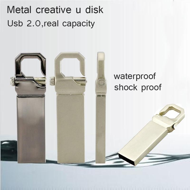 Флэш-накопитель USB 128 ГБ Металлический Pendrive Высокоскоростной USB-накопитель 32 ГБ Pen Drive Реальная емкость 16 ГБ брелок USB Flash