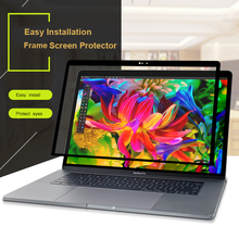 XSKN for Old Macbook Pro 15 A1398 Screen Protector Anti Scratch Clear PET HD Glue Free Laptop Screen Frame Skin Protective Film