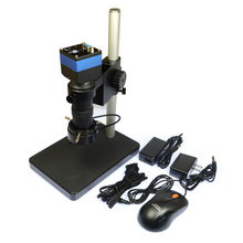 Discount! 2.0MP Digital Microscope VGA Camera + Mouse for Industrial Lab + 100X Zoon C-mount Lens + 40 LED Light