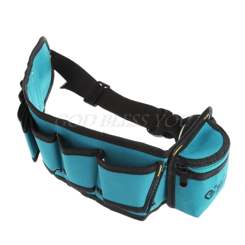 Multi-Pockets Waist Utility Belt Organizer Bag Tool Slot Screwdriver Carry Case