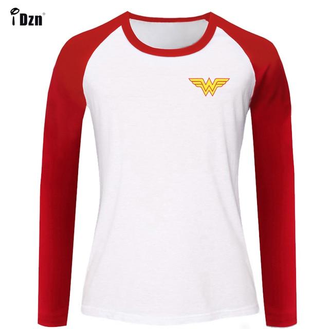 601ad8ab4 Summer Women's T-shirt Long Sleeve tshirt Animation Wonder Woman Retro  Printed Graphic Girl's t shirt Cotton Tees Tops Clothes