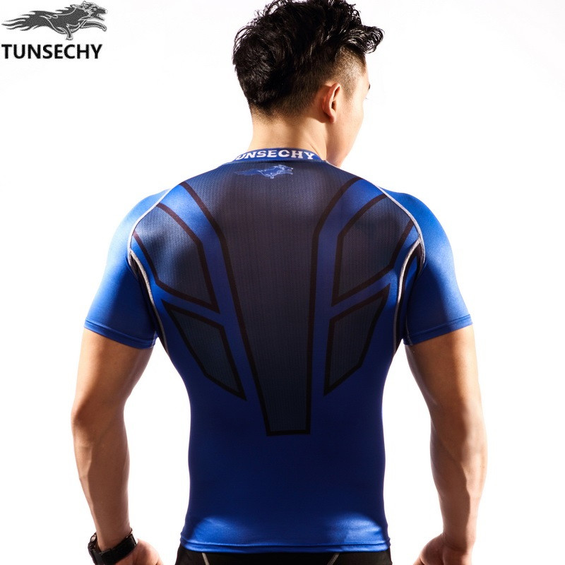 2018-2019 Hot sale tight t-cycling Shirts wear short-sleeved lifting muscle man downhill sides fitness base layer T-shirt cycl P