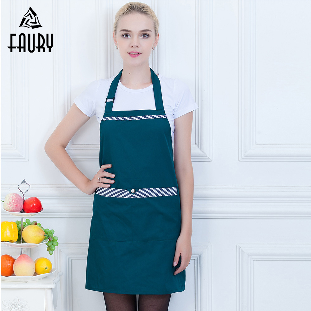 Wholesale Unisex Hanging Neck Apron High Quality Food Service Kitchen Cafe Bakery BBQ Chef Cook Waiter Cleaning Workwear Apron