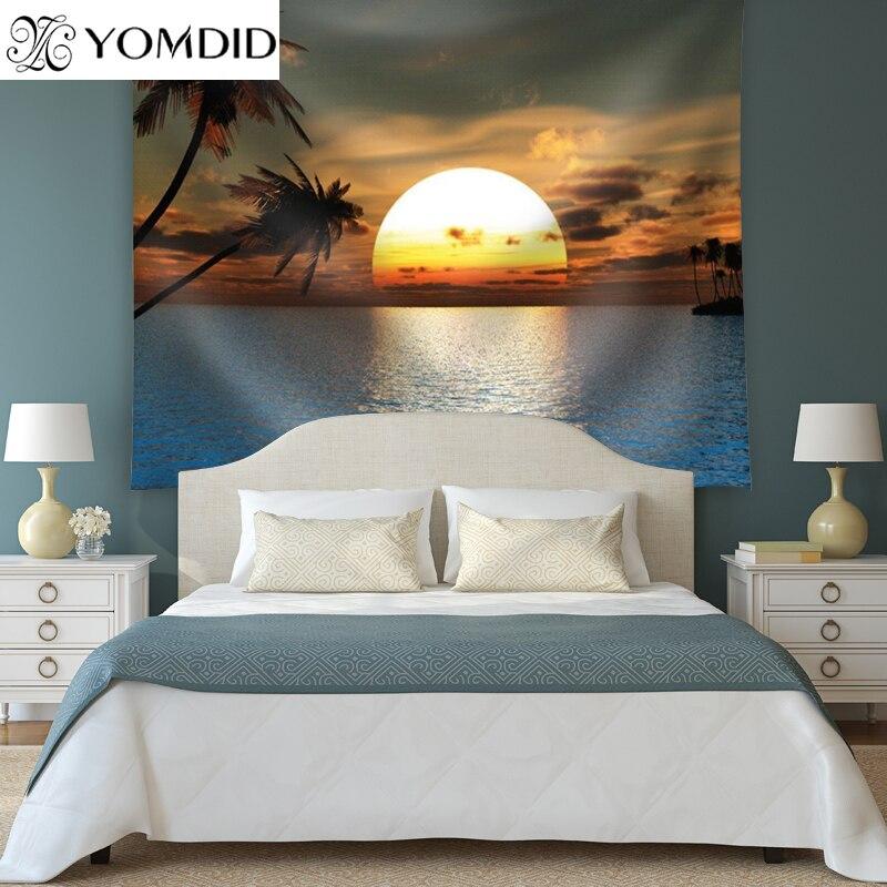Sonnenuntergang Tapestry Printed Strandtuch Indien Stil Wandbehang Teppiche Dekoration Decke tischdecke Yoga-Matte picknick-matte