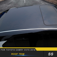 Auto Car styling Roof Trim Sitcker Cover Accessories for Toyota Camry XV70 2018