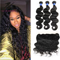 13x4inch ear to ear lace frontal closure with 2 bundles brazilian virgin hair body wave human hair with closure body wave hair