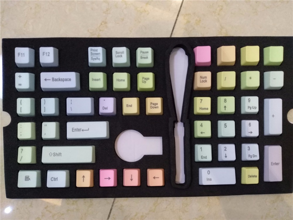 Mechanická klávesnice klávesnice duha PBT cherry mx OEM hra klávesnice keycap multi color 104 keycap IKBC POKER používají ANSI