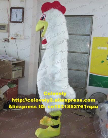 Weiß Huhn Chook Hahn Hahn Henne Küken Maskottchen Kostüm Erwachsene Cartoon Charakter Begrüßen Die Gäste Schönheit Parlor Zz5505 Seien Sie Freundlich Im Gebrauch