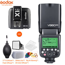 Godox V860II-S V860II-C 860II-N V860II-F V860II-O TTL HSS Li-ion Battery Flash + X1T Trigger for Sony Nikon Canon Olympus Fuji