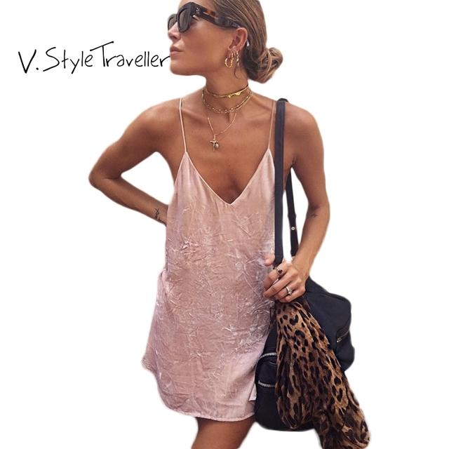 Estilo verão veludo slip dress mulheres casual vestido de ucrânia vestidos de festa roupas baratas china sexy boho veludo rosa camis E