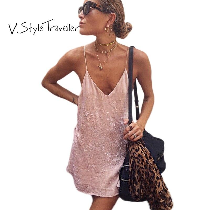 Verano estilo velour slip vestido mujeres casual Ucrania vestido de ...