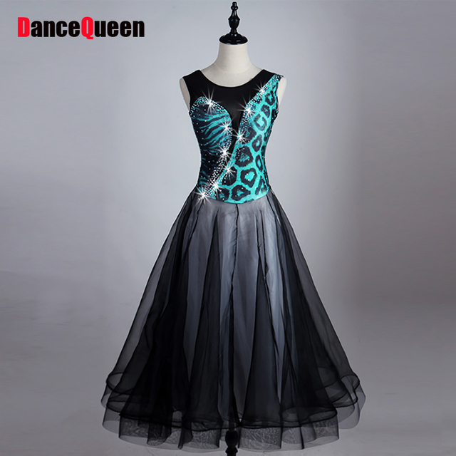 4ab5a6094c0b 2017 New Women Ballroom Dance Dress Sexy Lady Female Spandex&Organza Salsa  Flamenco Standard Sport Performance Tango Dress
