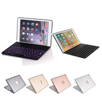 Aluminum 7 Colors Backlit Bluetooth Keyboard Smart Folio Case For iPad Pro 9.7inch Fashion Convenience 17OCT17