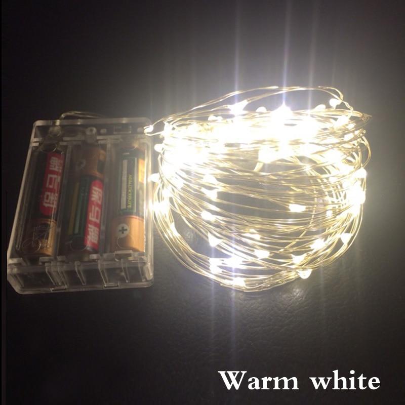 Tiras de Led branco quente luzes da corda Geração de Energia : Sempre Ligado