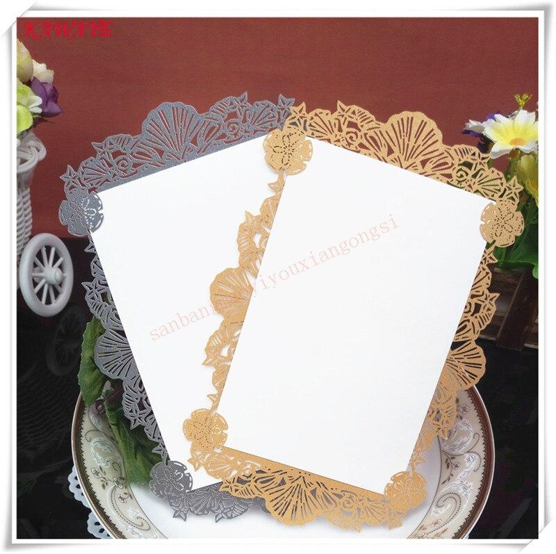 Wedding Invitations Stores: 10Pcs Romantic Openwork Lace Pattern Invitation Wedding