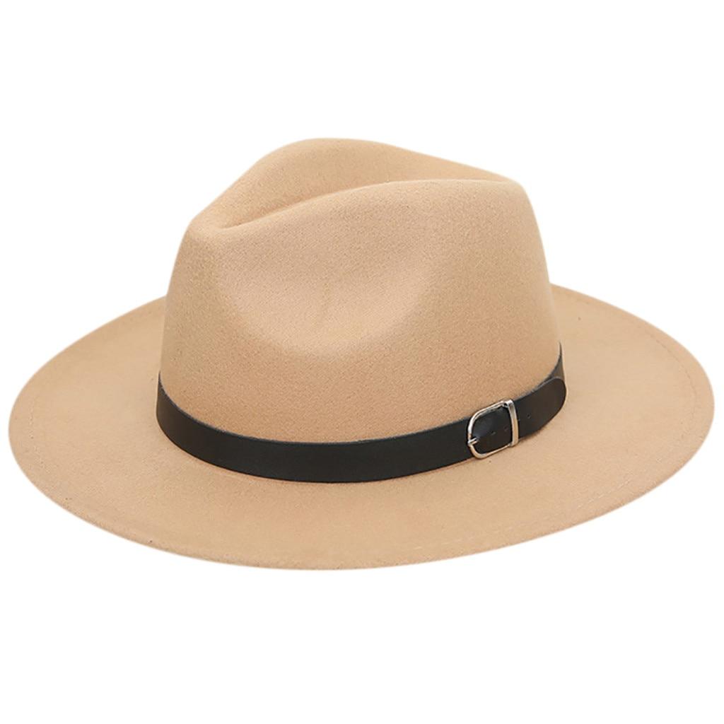 Ishowtienda White Hat Womens Crushable Wool Felt Outback -1526