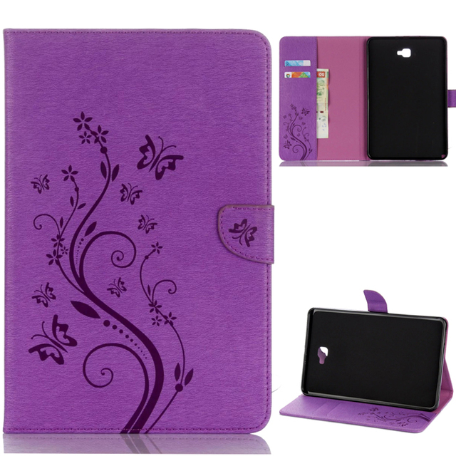 pretty nice 52b85 0eaf5 US $15.8 |Beautiful printing leather Case Cover For Samsung Galaxy Tab A A6  10.1 With S Pen (2016) P580 P585 Tablet Case flip cover-in Tablets & ...