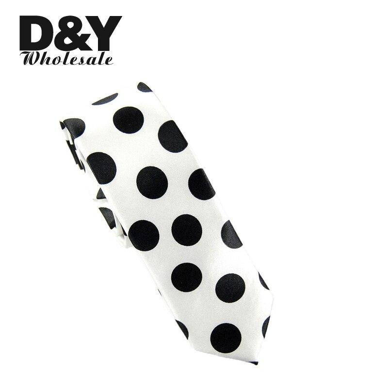 Men's Suits Necktie Polyester Black Waterdrop Dot Printed White Ties Gravata For Mens Vestidos Business Neckties Free Shipping