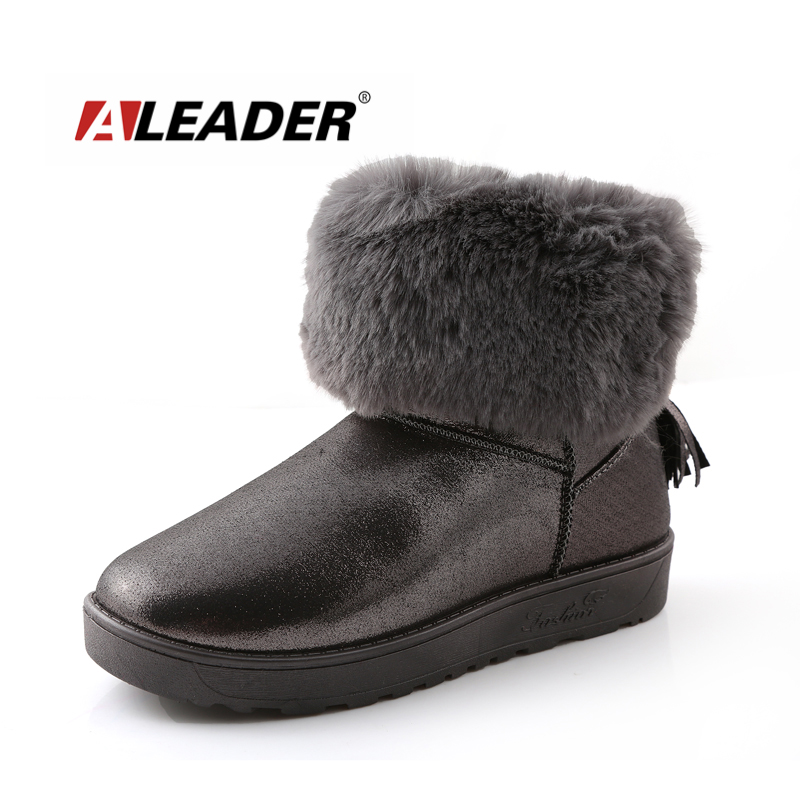 Women Snow Boots Winter Warm Fur Shoes 2015 Fashion Ankle Boots Shoes for Woman Ladies Snow Boots Comfortable botte femme 2016 rhinestone sheepskin women snow boots with fur flat platform ankle winter boots ladies australia boots bottine femme botas