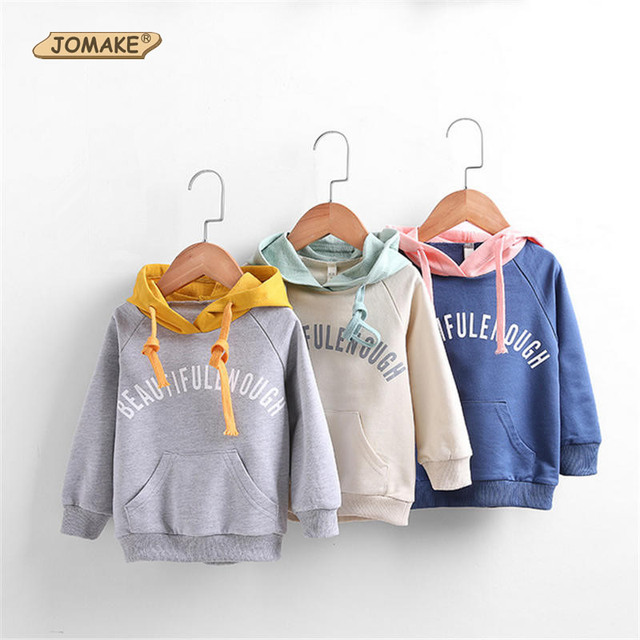 New Arrival Children Letter Hoodies & Sweatshirts Spring 2017 Fashion Brand Color Matching Kids Clothes Casual Toddlers Clothing