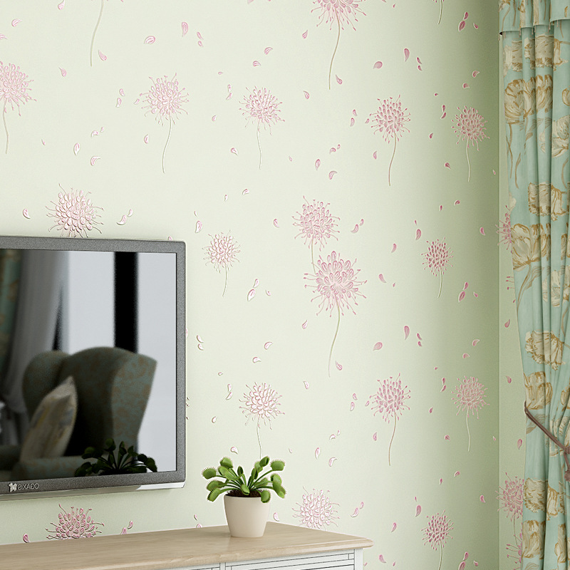 beibehang Korean pastoral dandelion 3D Wallpaper for Living Room Bedroom Mural Wallpaper Roll Desktop Background Wall Paper