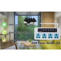 Smart SC4 GSM Switch 4 Power Socket Remote Control By SMS Call for Home Appliance ON OFF Timing Temperature Setting EU UK USPlug