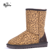 Top Quality New Fashion Natural Fur Waterproof Mujer Botas Classic Genuine Sheepskin Leather Snow Boots Winter Women Shoes