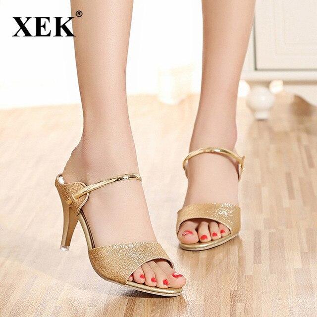 dc62bad2dff8f Women Sandals Sexy High Heels Women Pumps 2018 Women Shoes Gold Silver  Summer Sandals Heels Ladies Shoes JDD37