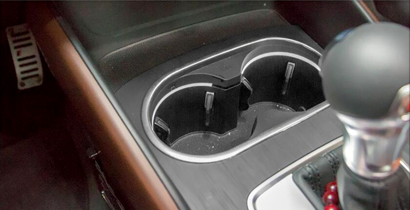 Inner Water Cup Holder decorative Cover trim 1pcs  for Subaru Outback 2015 2016