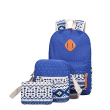 Комплект из 3 предметов с принтом Школьные сумки для подростков Обувь для девочек модные женские туфли рюкзак милый студент Дорожные сумки Mochila XM09