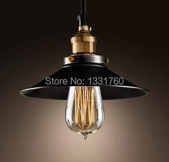 METAL FILAMENT PENDANT AGED STEEL black little skirt RHpendant lamp LOFT2 Pendant Lamps American Country style lighting Vintage