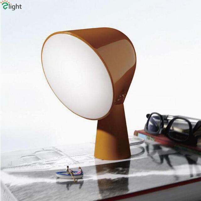 Big Discount Modern Minimalism Foscarini Binic Table Lamp Indoor Lighting Colorful ABS Big Head E14 Night Light Bed Lamp