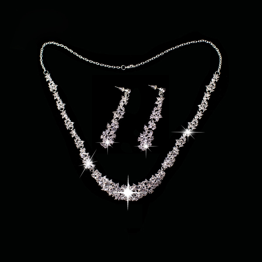 2016 Women Dancewear font b Jewelry b font Set for Dance Headpiece font b Necklace b