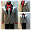 Men Suicide Squad Joker Costume Cosplay Suit Silver Coat Psychos Killers Jacket New