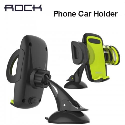 imágenes para Rock móvil titular de teléfono para coche soporte ajustable de soporte de 6.0 pulgadas 360 girar para iphone 6 plus/5s samsung galaxy note 7 s6 s7 borde