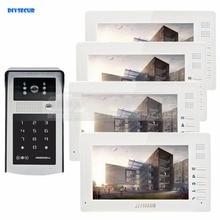 DIYSECUR 7inch 1024 x 600 TFT LCD Screen Video Door Phone Video Intercom Doorbell 300000 Pixels RFID Reader + Password Camera