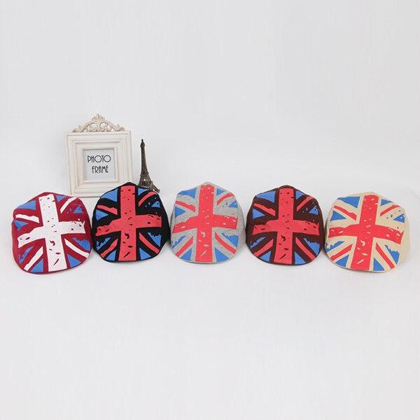 Boy Girl Kids Hat British Flag Beret Children Cap font b Tartan b font Design Children