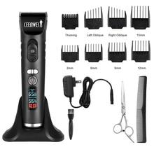 Ceenwes перезаряжаемый триммер для волос для мужчин беспроводные электрические машинки для стрижки волос комплект с 8 направляющими гребнями включая зарядную док-станцию