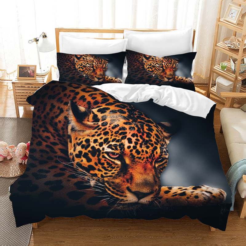 Animal Leopard 3d Bedding Set Duvet Covers Pillowcase Leopard Bed Set Comforter Bedding Sets Bedclothes Bed Linen Comforters