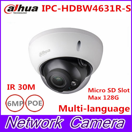 Original Dahua IPC-HDBW4631R-S 6MP IP Camera IK10 IP67 built-in POE SD slot replace IPC-HDBW4431R-S CCTV camera опрыскиватель ik alkalines s 9