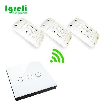 Igreli inteligentnego moduły automatyki inteligentnego domu bezprzewodowy 433 przełącznik RF zdalnego sterowania na ścianie sufitowy gospodarstwa domowego u nas państwo lampy