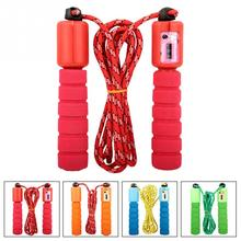 Adjustable Children Kids 2 5m Skipping Jumping Rope Foam Handle Counter for Fitness Exercise Outdoor Sports
