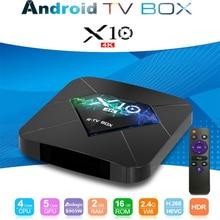 Smart ТВ коробка X10 S905W Quad core 2 Гб 16 GB Android OS 7,1 WI-FI H.265 HDR 3D 4 K Декодер каналов кабельного телевидения Media Player PK X96 мини