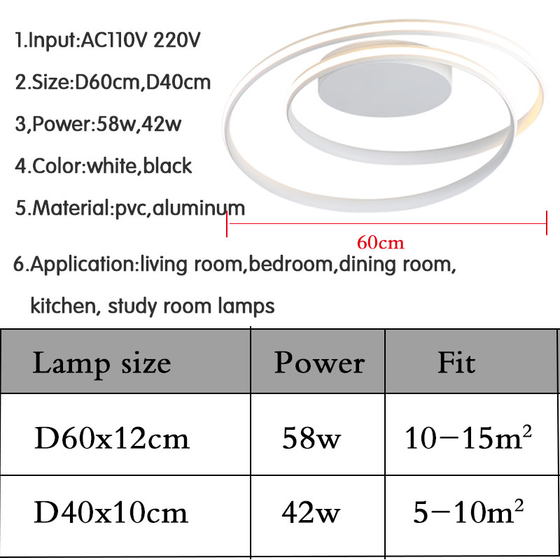 Hot Sale Modern LED Ceiling Lights For Living Room Bedroom Dining Room Luminaires White Black Ceiling Hot Sale Modern LED Ceiling Lights For Living Room Bedroom Dining Room Luminaires White&Black Ceiling Lamps Fixtures AC110V 220V
