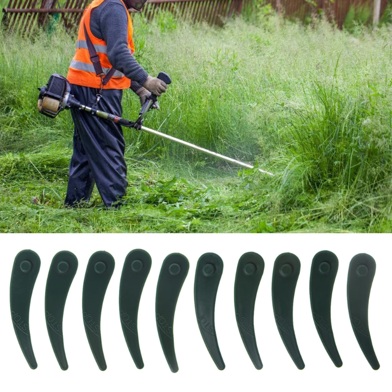 10Pcs Lawn Mower Plastic Blade Grass Strimmer Trimmer For Bosch Replacement Part